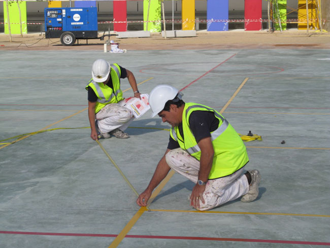Pintura pistas deportivas pintura para se alizaciones - Pintura para pistas deportivas ...